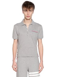 Thom Browne Cotton Pique Polo W Striped Details