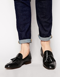 H By Hudson Pierre Leather Loafers Black