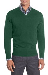 Men's Peter Millar Merino V Neck Sweater Sherwood
