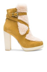 Australia Luxe Collective Mercy Shearling Heels Tan