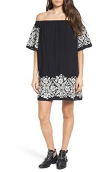 One Clothing Women's Embroidered Off The Shoulder Dress