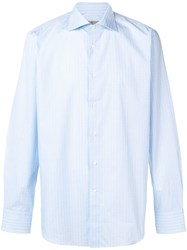 Canali Long Sleeved Shirt Blue
