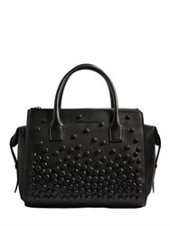 Dsquared Twin Zip Studded Napa Leather Bag