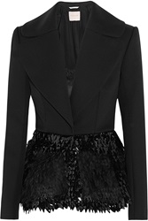 Roksanda Ilincic Calyton Paillette Embellished Silk Mohair And Wool Blend Jacket