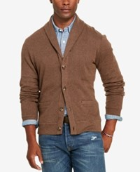 Polo Ralph Lauren Men's Jacquard Fleece Shawl Cardigan Olive