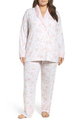 Carole Hochman Plus Size Women's 3 Piece Pajamas