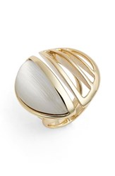 Women's Alexis Bittar 'Lucite Metal' Cocktail Ring Silver