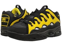 Osiris D3 2001 Black White Yellow Men's Skate Shoes