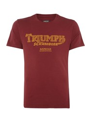 Barbour Men's Triumph Scrambler Vintage Print T Shirt Red