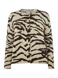 Persona Mago Leopard Knitted Cardigan Beige