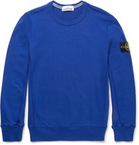 Stone Island Slim Fit Cotton Sweatshirt Royal Blue