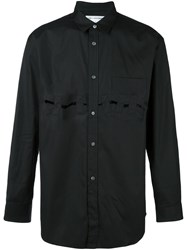 Comme Des Garcons Shirt Cut Out Detail Shirt Black