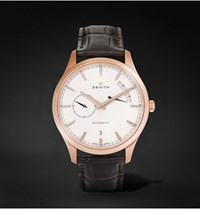 Zenith Power Reserve 40 Rose Gold Tone Stainless Steel And Alligator Watch