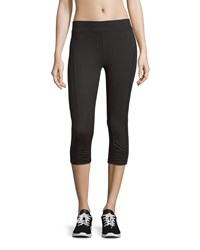 Xcvi Ruched Cropped Active Leggings Black