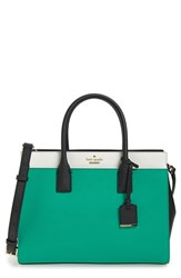 Kate Spade New York Cameron Street Candace Leather Satchel Green Emerald Ring Multi