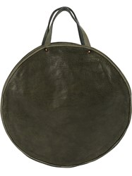 Guidi Round Tote Bag Green