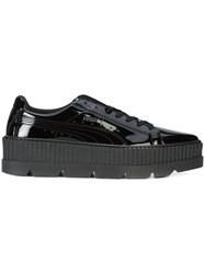 Fenty X Puma Pointy Creeper Sneakers Patent Leather Rubber Black