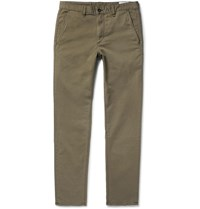 Rag And Bone Fit 2 Slim Fit Garment Dyed Stretch Cotton Twill Chinos Green