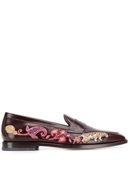 Etro Embroidered Loafers