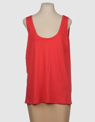 G750g Topwear Sleeveless T Shirts Women Red