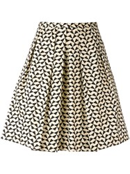 Eggs Triangle Print Skirt Women Cotton Spandex Elastane Acetate Viscose 42 Black