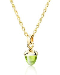 Tamara Comolli Mikado Bouquet Peridot Pendant Enhancer In Yellow Gold