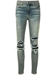 Amiri Ripped Detailed Jeans Blue
