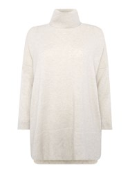 Repeat Cashmere Turtle Neck Half Sleeve Jumper Ice