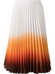 J.W.Anderson Ombre Pleated Skirt White