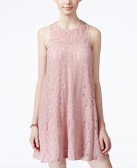 American Rag Juniors' Lace Illusion Shift Dress Only At Macy's Pale Mauve