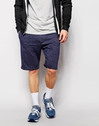 New Look Raw Hem Shorts Navy