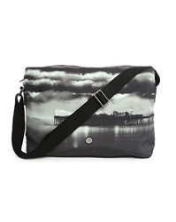 Ben Sherman Grey Digital Print Canvas Bag