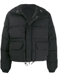 Unravel Project High Neck Puffer Jacket Black