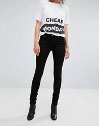 Cheap Monday Mid Rise Skinny Jean New Black