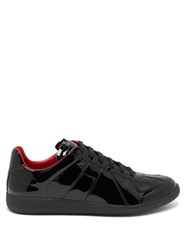 Maison Martin Margiela Replica Patent Leather Trainers Black Red