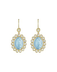 Penny Preville 18K Oval Aquamarine And Diamond Drop Earrings Gold