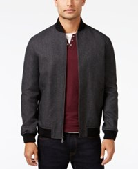 Inc International Concepts Men's Textured Colorblocked Moto Jacket Only At Macy's Charcoal