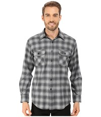 Pendleton L S Field Shirt Charcoal Shadow Men's Long Sleeve Button Up Gray