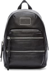 Marc By Marc Jacobs Black Leather Domo Biker Backpack