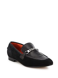 Rag And Bone Cooper Suede Chain Loafers Red Suede