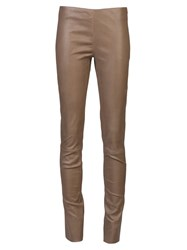 Drome Skinny Leather Trouser Brown
