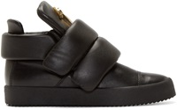 Giuseppe Zanotti Black Padded Leather High Top Sneakers