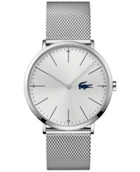 Lacoste Men's Moon Stainless Steel Mesh Bracelet Watch 40Mm 2010901 Silver