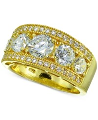 Giani Bernini Cubic Zirconia Ring In 18K Gold Plated Sterling Silver Created For Macy's