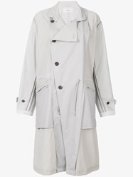 Julien David Panel Parka Coat White