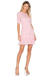 M Missoni 3 4 Sleeve Fit And Flare Dress Pink