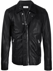 Zadig And Voltaire Slim Leather Jacket 60