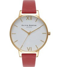 Olivia Burton Ob15bdw01 Big Dial Gold Plated Watch Red