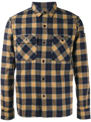 Neighborhood Checked Flannel Shirt Yellow Orange