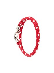 Tod's Braided Bracelet Red
